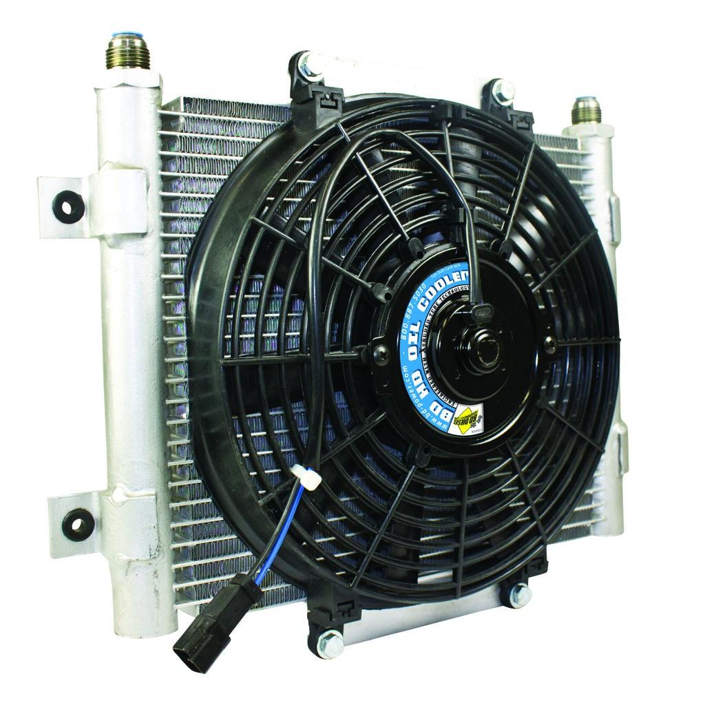1300611 BD Diesel Xtrude Core Heavy Duty Transmission Cooler With Fan