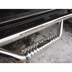 D0289QC-SS N-Fab Polished Stainless Steel Nerf Steps 2002-2009 Dodge Ram