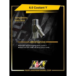 MPD 03-07 Billet Coolant Y-Pipe