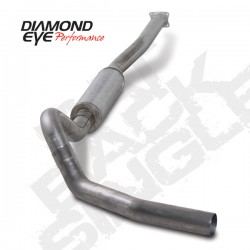 K4110S Diamond Eye Cat Back Exhaust System for LB7 LLY Duramax