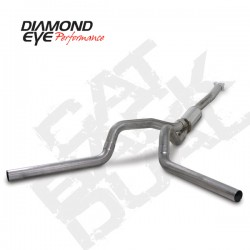 K4112S Diamond Eye Cat Back Dual Exhaust System for LB7 or LLY Duramax