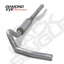K4122A Diamond Eye Cat Back Single Exhaust System for LBZ Duramax
