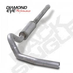 K4122A Diamond Eye Cat Back Single Exhaust System for LBZ Duramax