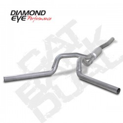 K4124A Diamond Eye Cat Back Dual Exhaust System for LBZ Duramax