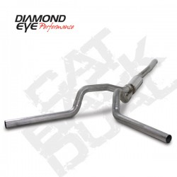 K4124S Diamond Eye Cat Back Dual Exhaust System for LBZ Duramax