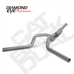 K4312A Diamond Eye Cat Back Dual Exhaust System for Ford 7.3L Powerstroke