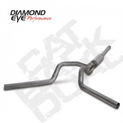 K4312S Diamond Eye Cat Back Dual Exhaust System for Ford 7.3L Powerstroke