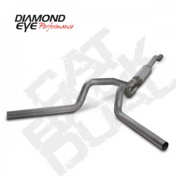 K4340S Diamond Eye Cat Back Dual Exhaust for Ford 6.0L Powerstroke